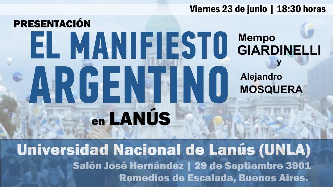 El Manifiesto Argentino en Lanús