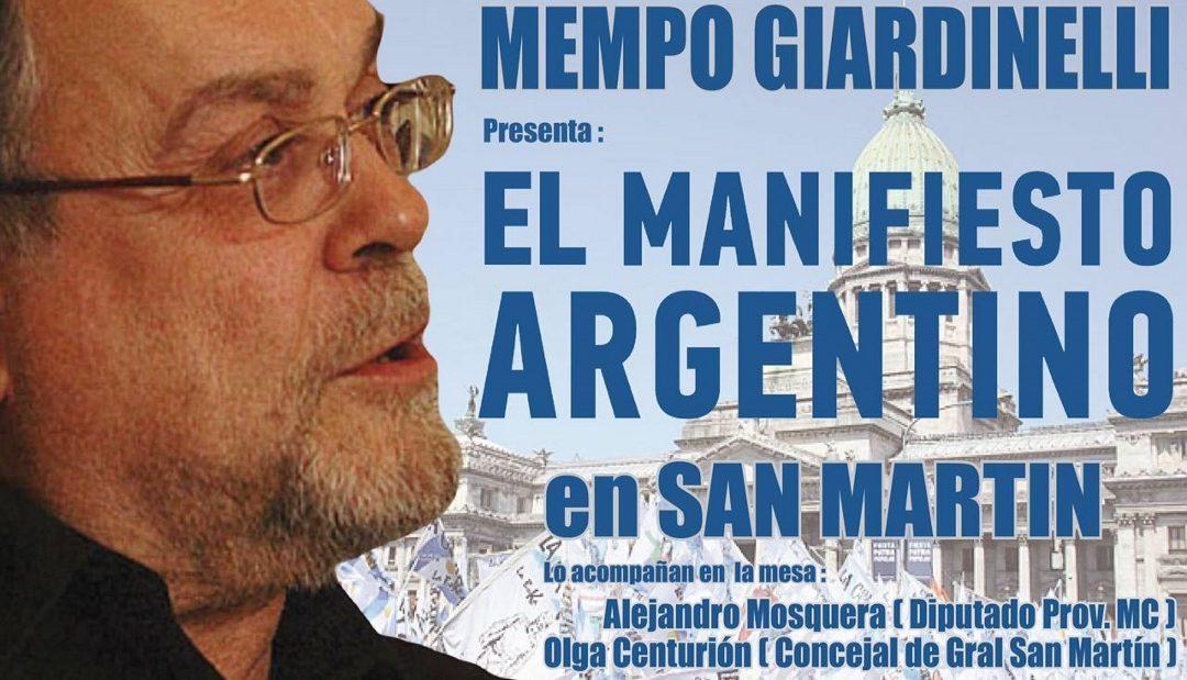 El Manifiesto Argentino en San Martín Provincia de Buenos Aires