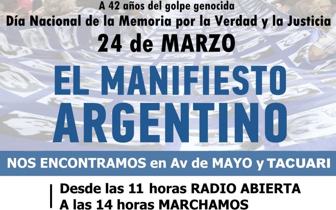 El 24 #MARCHAMOS!