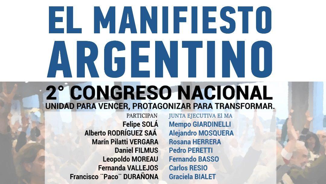 2do CONGRESO NACIONAL de El Manifiesto Argentino